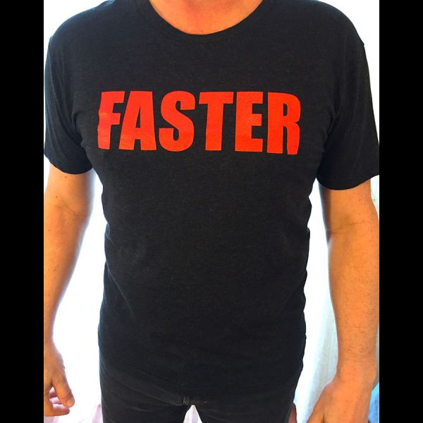 Faster T-Shirt in Black - Front